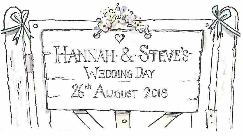 Hannah & Steve's Wedding Day 26th August 2018